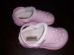 Утепленные сабо кроксы crocs С10 наш 27