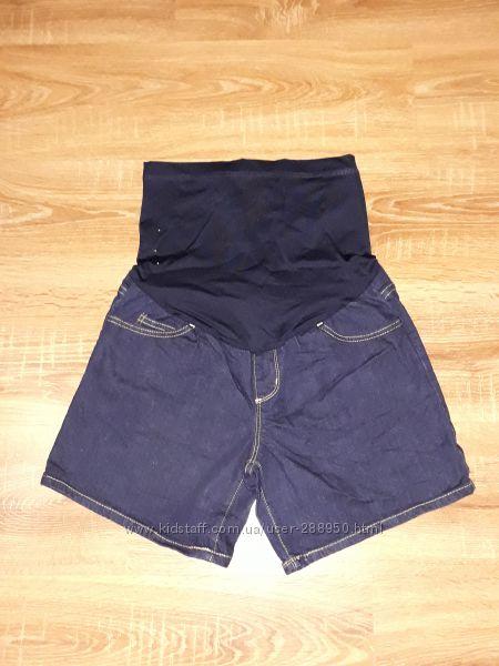 Джинсовые шорты для беременных Liz lange maternity р. XS