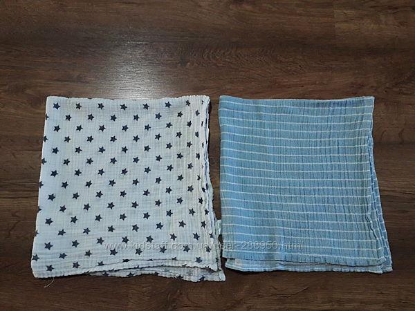 Муслиновые марлевые салфетки пеленки 65х65