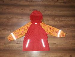 Прорезиненная куртка дождевик Lupilu на 2-4 года