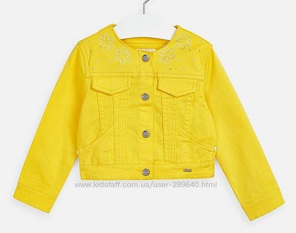 Джинсовая куртка Mayoral на рост 128 и 134 см