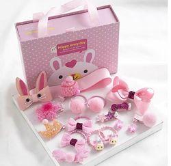 Подарочный набор заколки резинки в коробочке разные цвета
