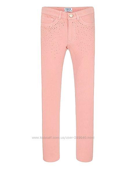 Розовые летние леггинсы штаны лосины от Mayoral на рост 128 см на 8 лет
