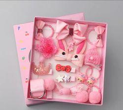 Подарочный набор заколок и резинок в коробке