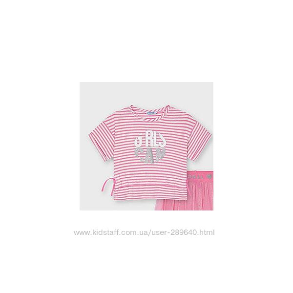 Розовая футболка из новой коллекции Mayoral 104, 110 см