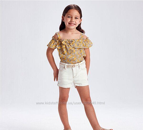 Оригинальный стильный топ майка футболка от Mayoral на 122, 128 и 134 см