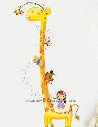 Ростомер-наклейка в детскую Жираф