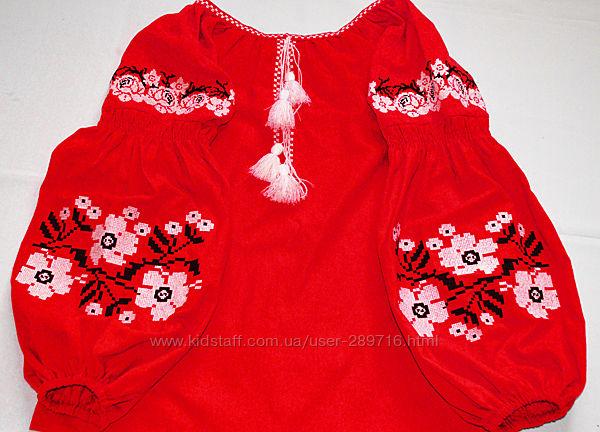 Красивая современная блуза вышиванка с цветами в стиле бохо