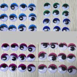 Глазки клеевые с цветным веком