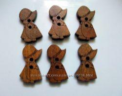 Декоративные деревянные пуговицы