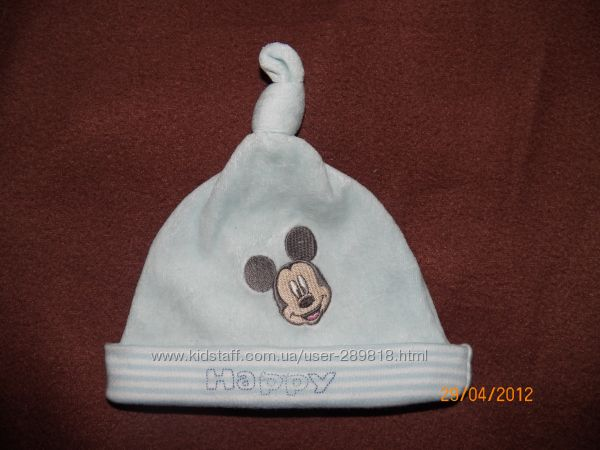 шапочка с Микки Disney на 3-6 месяцев
