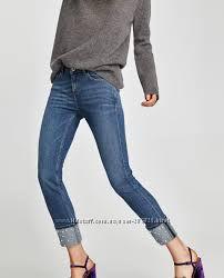 Очень красивые джинсы Zara с жемчугом, оригинал