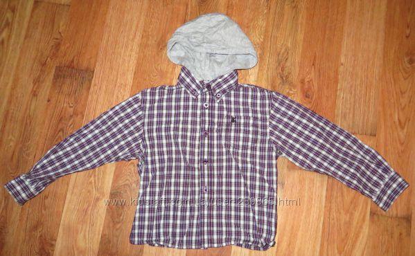 Стильная рубашка с капюшоном REBEL на рост 104