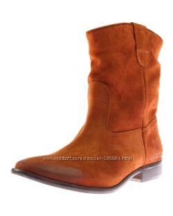 ZARA ботинки женские р. 38-38, 5 замшевые демисезон