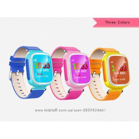 Детские умные часы Голубые  GPS Smart Baby Watch Q80