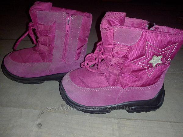 Теплые ботиночки для девочки 25р