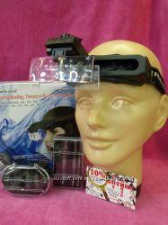Налобная лупа  очки с подсветкой для ювелиров и коллекционеров