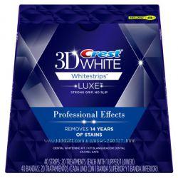 Crest 3D  Whitestrips Professional Effects 20 - отбеливающие полоски - США