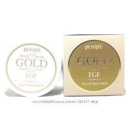 Гидрогелевые патчи для кожи вокруг глаз с золотом и EGF Petitfee Gold & EGF
