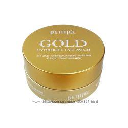 Гидрогелевые патчи PETITFEE для глаз 60шт - с золотом