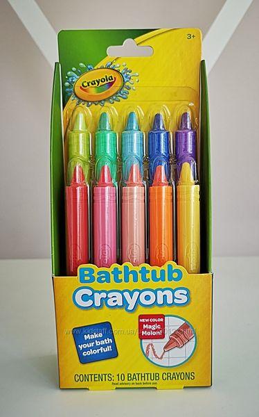 Crayola 10  карандашей для ванной, для детей