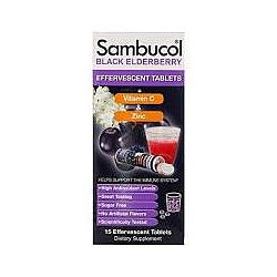 Sambucol, Черная бузина, 15 шипучих таблеток