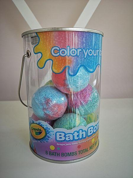 Бомбочки для ванны - для  деток Crayola - 8шт - 320гр