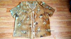 Новая яркая женская блузка с коротким рукавом